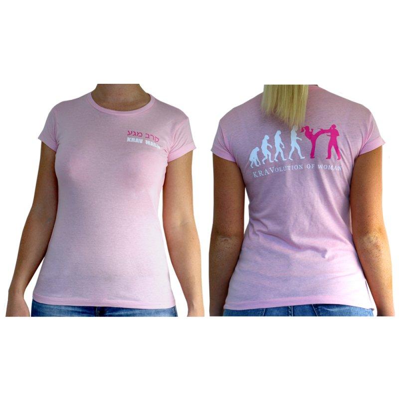 kravolution of women krav maga regular t shirt f r frauen in rosa. Black Bedroom Furniture Sets. Home Design Ideas