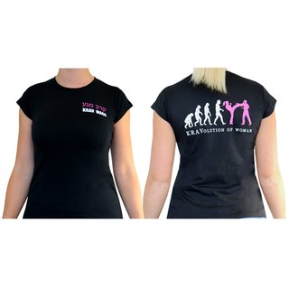 Kravolution of woman Krav Maga T-Shirt für Frauen Training schwarz