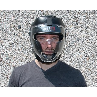 Krav Maga head protection / leather helmet with clear visor / face protection