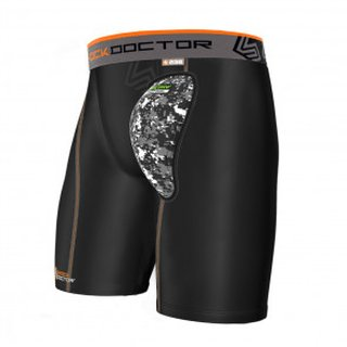 Shock Doctor Compression Shorts mit AirCore Hard Cup