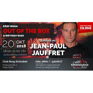 Krav Maga OUT OF THE BOX  & Birthday Bash Seminar am 20.10.2018 in Berlin