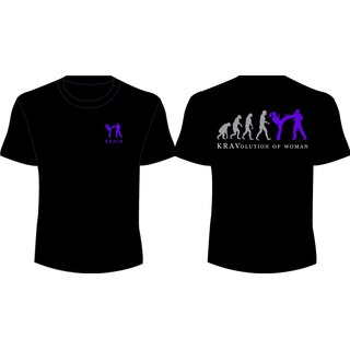 KRAVolution of Woman Krav IT T-Shirt für Frauen Training schwarz
